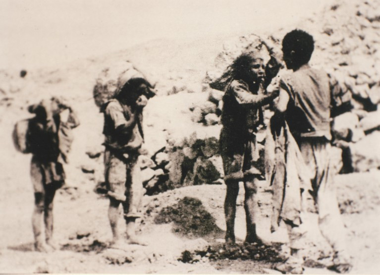 Weird Italy carusi-naked-miners-012 The lives of the Carusi, the slave miners of Sicily Italian History Italy Crime News and Criminal Investigations Magazine  SULPHUR MINES sicily picuneri old photographs old images of Italy old images mines miners mine-boy Illegal labour Floristella Grottacalda Floristella Child Slavery in Sicily carusu carusi
