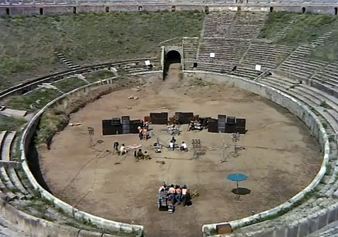 Weird Italy pinkfloyd-pompeii Pompeii 1972: Pink Floyd live Latest Italian News and Videos Magazine Sounds&Music from Italy  vulcan vesuvio University of Naples pink floyd naples live at pompeii echoes campania adrian maben 1972