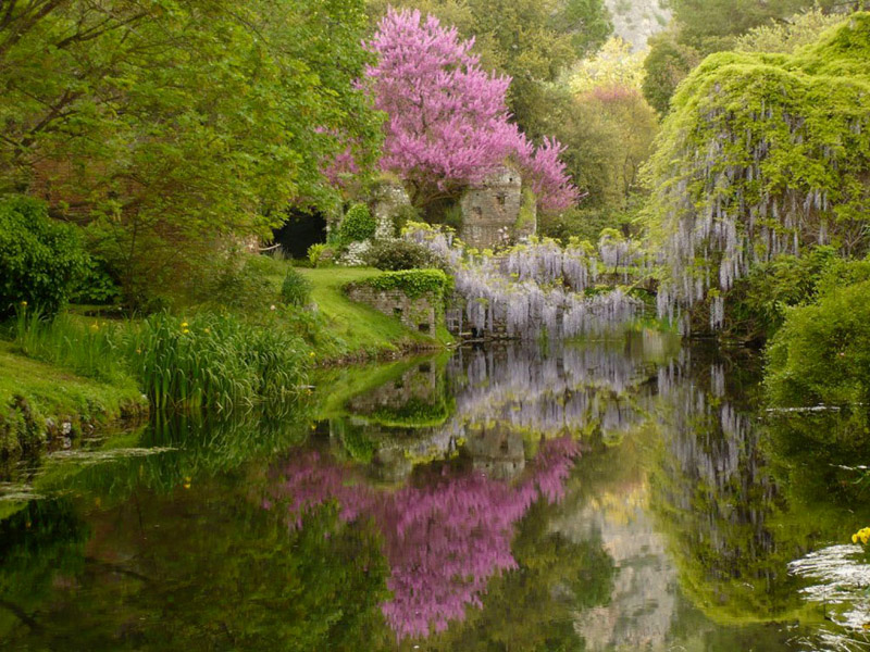Weird Italy Il-fiume-in-primavera Fairy Garden of Ninfa in Sermoneta Featured Italian History Magazine Nature in Italy What to see in Italy  volscians Segni Pantanello Natural Park ninfa natural park monti lepini Lazio garden of ninfa Frangipane Colonna castle Caetani