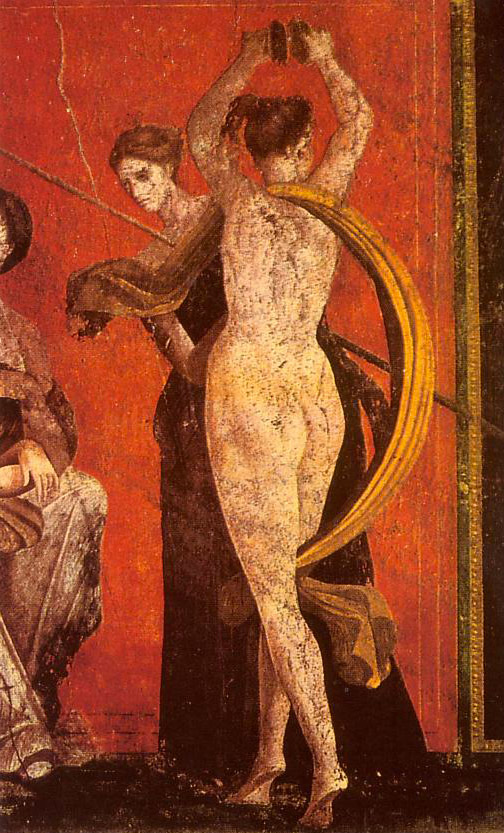 Weird Italy Wallpainting-at-the-villa-di-mysterii 30 Amazing pictures of Pompeii Featured Italian History Magazine What to see in Italy  romans Pompeii Pliny the Younger Pliny the Elder Mount Vesuvius Imperial Rome Herculaneum graffiti erotic graffiti campania 79 AD