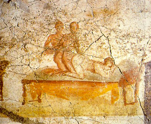 Weird Italy pompeii-erotica-3 30 Amazing pictures of Pompeii Featured Italian History Magazine What to see in Italy  romans Pompeii Pliny the Younger Pliny the Elder Mount Vesuvius Imperial Rome Herculaneum graffiti erotic graffiti campania 79 AD