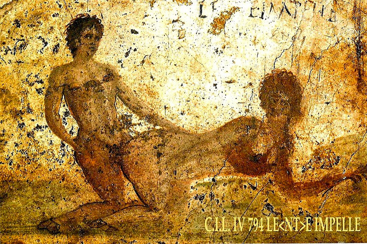 Weird Italy pompeii-erotica 30 Amazing pictures of Pompeii Featured Italian History Magazine What to see in Italy  romans Pompeii Pliny the Younger Pliny the Elder Mount Vesuvius Imperial Rome Herculaneum graffiti erotic graffiti campania 79 AD