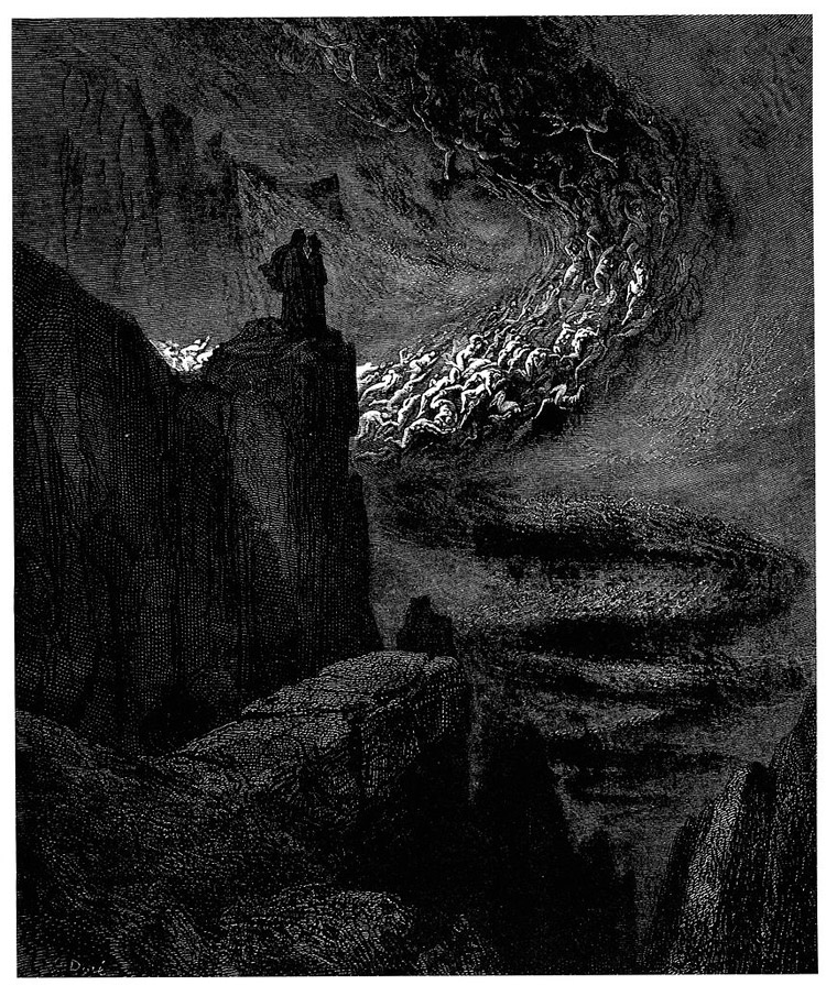 Weird Italy inferno-14 42 astonishing Dante's Inferno illustrations by Gustave Doré Italian History Magazine  tuscany the divine comedy souls purgatory lost souls la divina commedia inferno illustrations hell heaven gustave doré