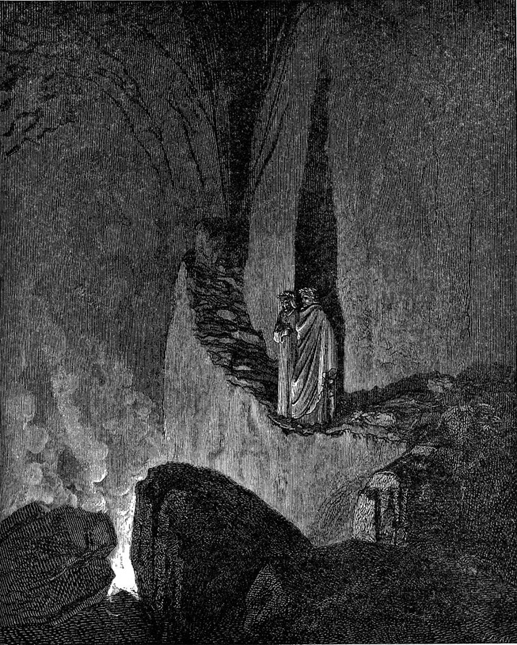 Weird Italy inferno-XXVI 42 astonishing Dante's Inferno illustrations by Gustave Doré Italian History Magazine  tuscany the divine comedy souls purgatory lost souls la divina commedia inferno illustrations hell heaven gustave doré