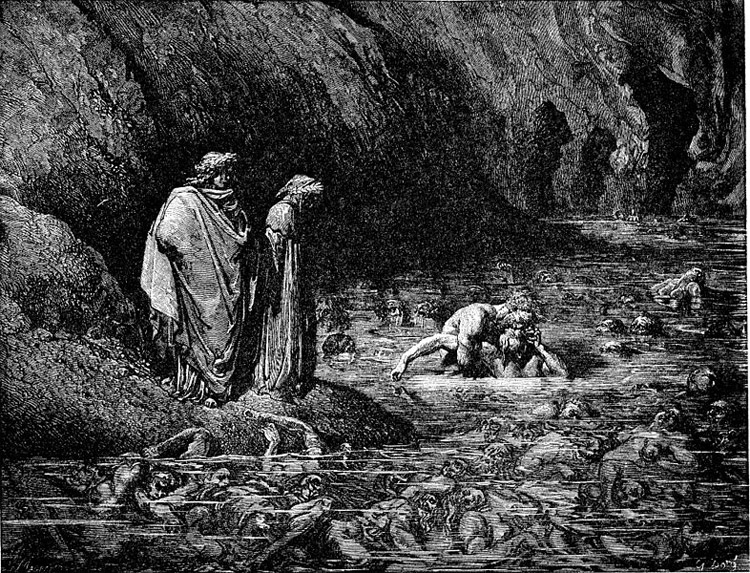 Weird Italy inferno-ugolino 42 astonishing Dante's Inferno illustrations by Gustave Doré Italian History Magazine  tuscany the divine comedy souls purgatory lost souls la divina commedia inferno illustrations hell heaven gustave doré