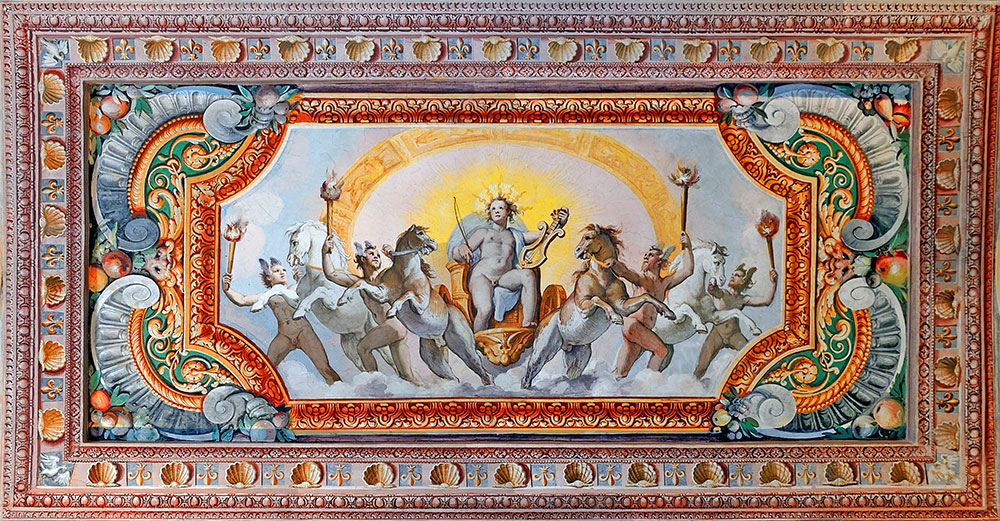 Fresco of hall of Apollo in Villa d'Este (Tivoli)