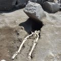 Weird Italy skeleton-pompeii-002-120x120 Archaeologists found in Pompeii the skeleton of a man fleeing from the fury of the Volcano Italian History Latest Italian News and Videos  Pompeii campania archeology