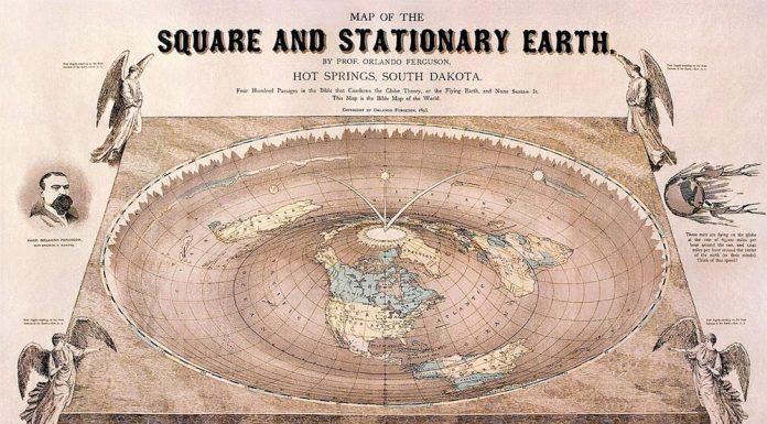 flat-earth map