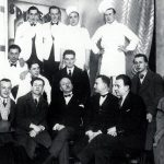 The brigade of the Taverna Santopalato with Marinetti