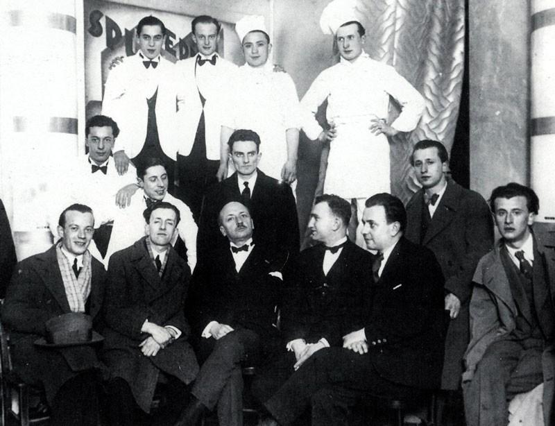 The brigade of the Taverna Santopalato with Marinetti