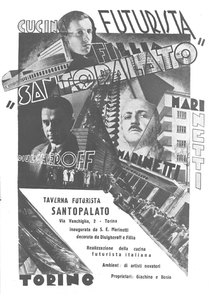 Weird Italy taverna-futurista-santopalato The Manifesto of Futurist Cooking, A Meal that Prevented a Suicide Featured Italian Art, Design & Photography Italian Dishes and Food  italian recipe futurism fascism