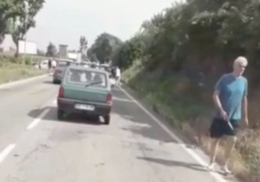Weird Italy killer-knife-video A killer walks away cleaning the knife on a crime scene in Italy Italy Crime News and Criminal Investigations Latest Italian News and Videos  Carmagnola murder