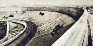 The autodrome on the roof of the Fiat factories in Turin (at the Lingotto - 1928)