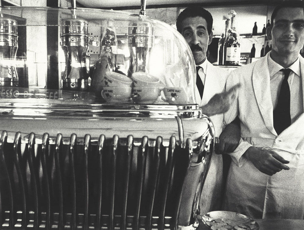Weird Italy William-Klein-Koffee-machine-and-attendants_copia 'Memoria e Passione', Masterpieces of photography of Italy on display in Turin Italian Art, Design & Photography  photography