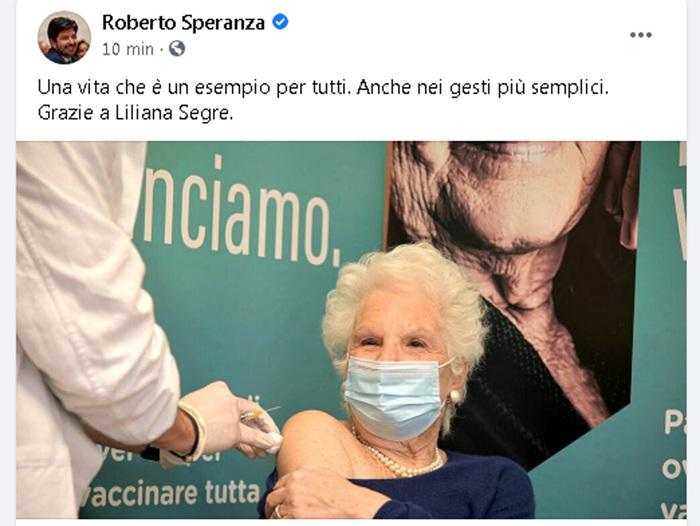 Weird Italy life-senator-holocaust-survivor-segre-has-covid-19-vaccine Life Senator, Holocaust survivor Segre has COVID-19 vaccine What happened in Italy today