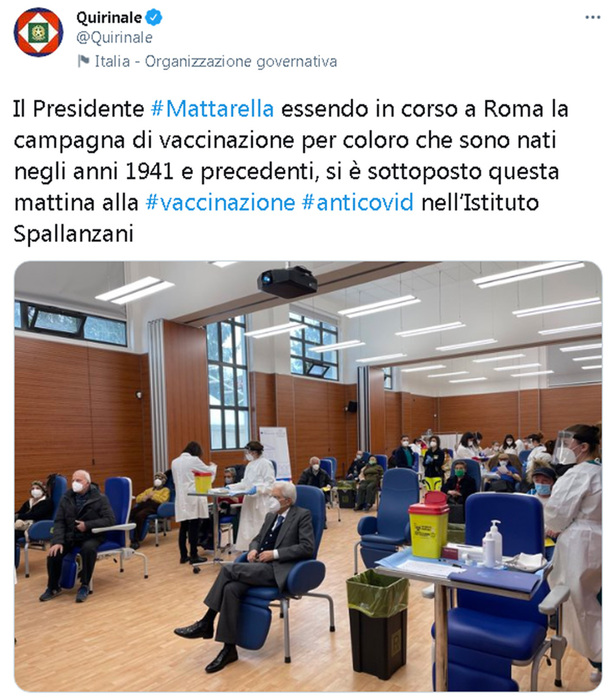 Weird Italy covid-mattarella-vaccinated-at-spallanzani COVID: Mattarella vaccinated at Spallanzani What happened in Italy today