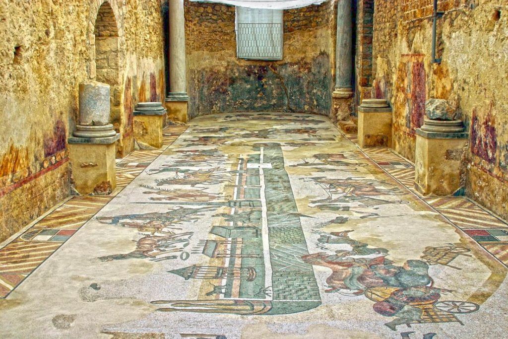 Weird Italy The-astonishing-mosaics-of-the-Roman-Villa-del-Casale-1024x683 The astonishing mosaics of the Roman Villa del Casale Featured Italian History What to see in Italy  romans roman history