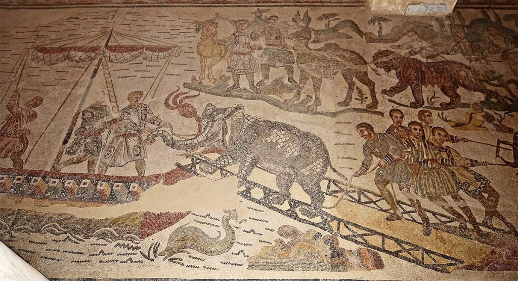 Weird Italy the-big-game-hunt-mosaic-1024x555 The astonishing mosaics of the Roman Villa del Casale Featured Italian History What to see in Italy  romans roman history