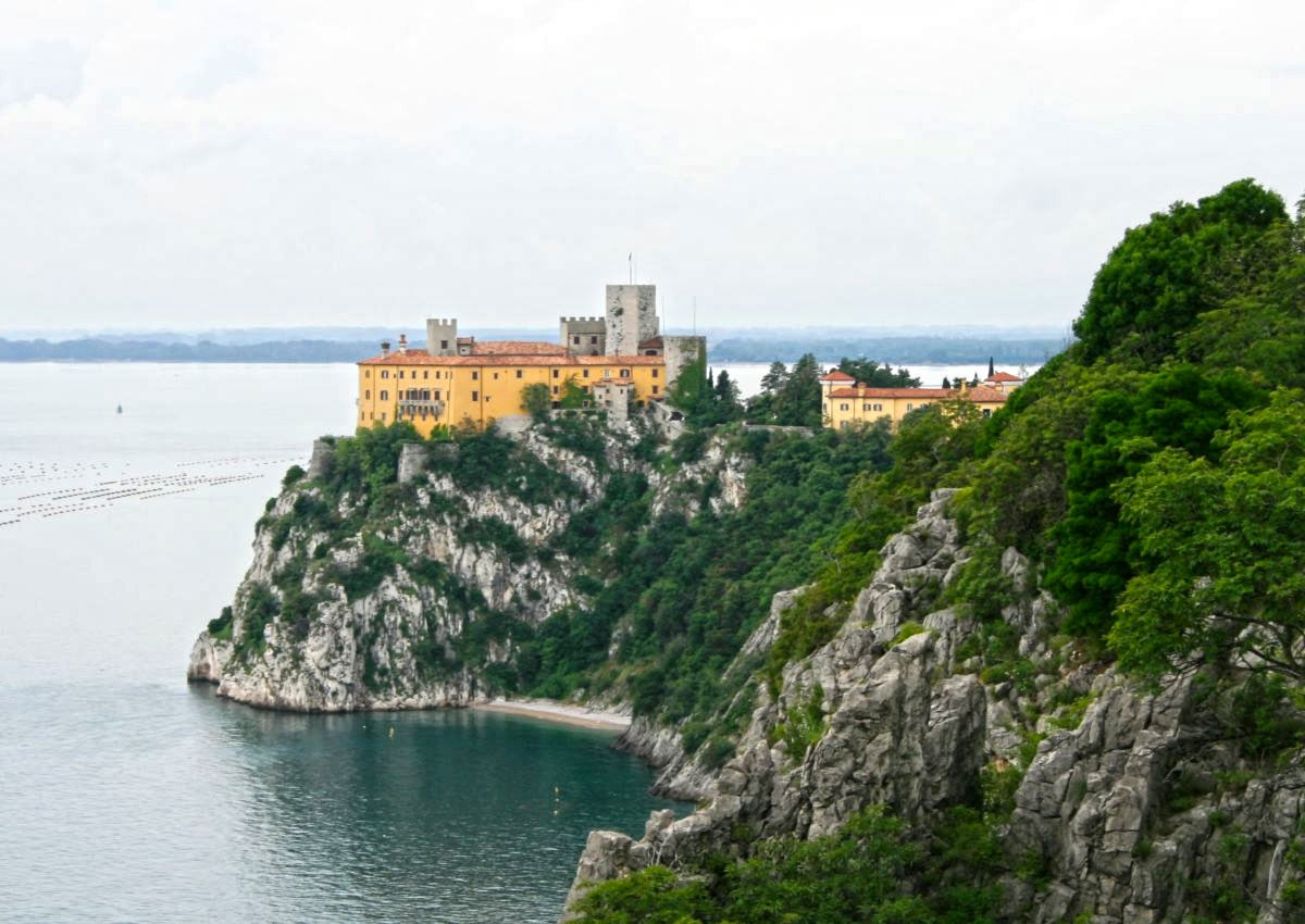 Weird Italy Duino-Castle-intro History & Images of Duino Castle Italian History Italian People What to see in Italy  Friuli Venezia Giulia castle