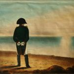 Napoleon-on-Elba,-an-early-19th-century-painting-of-the-French-dictator-in-exile
