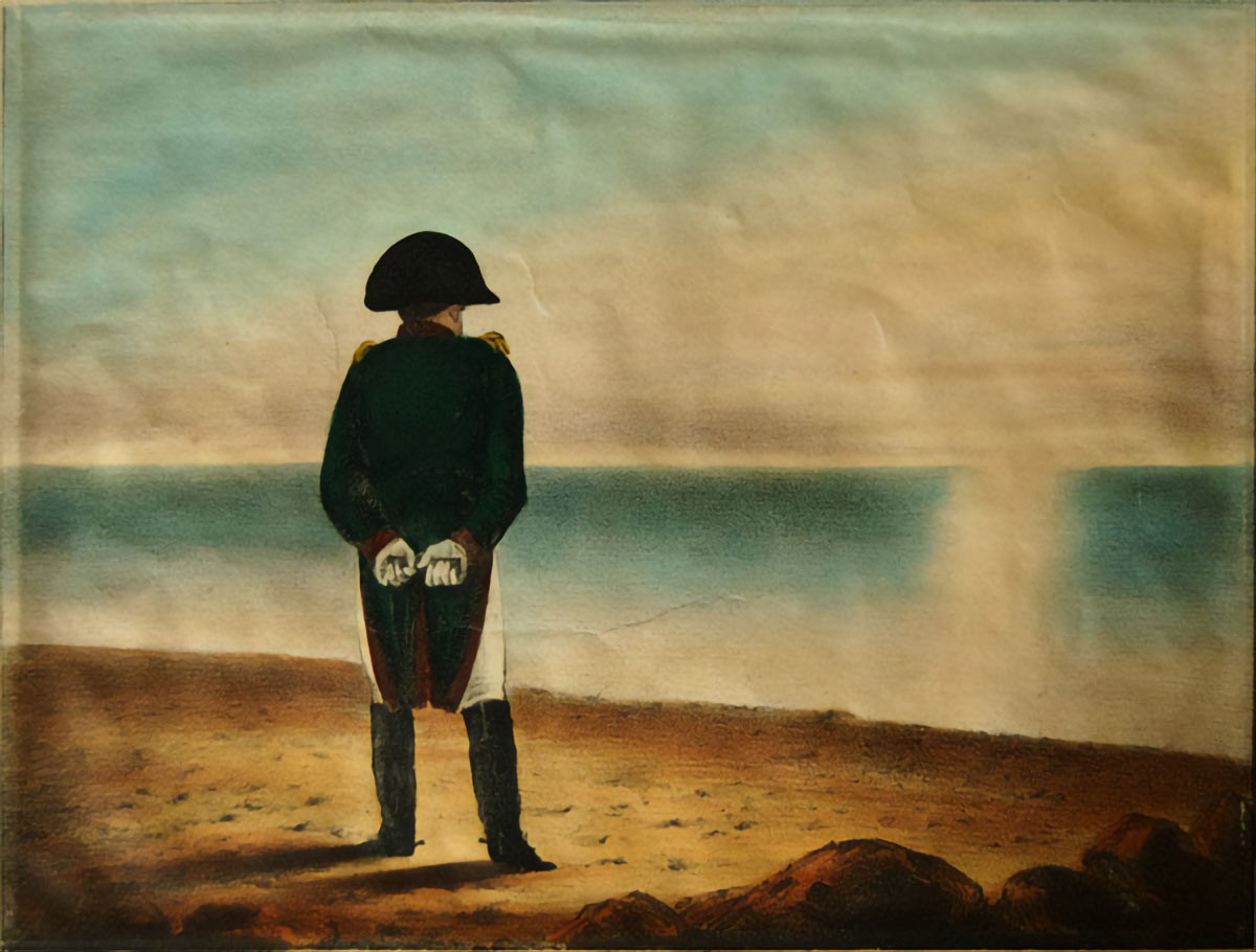 Weird Italy Napoleon-on-Elba-an-early-19th-century-painting-of-the-French-dictator-in-exile The Exile of Napoleon at Isola d'Elba Featured Italian History What to see in Italy  tuscany Napoleon Isola d'Elba