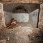 The tomb of Marcus Venerius Secundio discovered at Porta Sarno with mummified human remains